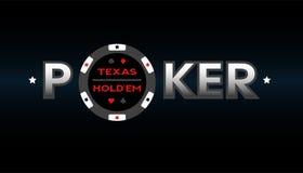 Texas Holdem Poker, vector illustration. Royalty Free Stock Photo