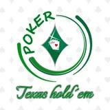 Texas-holdem Pokerhintergrund mit Spielkarten Stockbilder