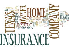 Texas Home Owner Insurance Company Text Background  Word Cloud Concept. TEXAS HOME OWNER INSURANCE COMPANY Text Background Word Cloud Concept Royalty Free Stock Images