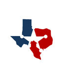 Texas home veteran care business insurance abstract Royalty Free Stock Image