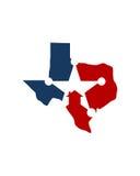 Texas home veteran care business insurance abstract. Texas home veteran care for financial business insurance abstract Royalty Free Stock Image