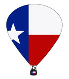 Texas Hot Air Balloon vektor illustrationer