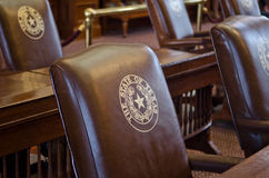 Texas House of Representatives Chamber Chairs stock photo
