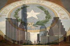 Texas huvudstad på staden Austin Arkivbilder