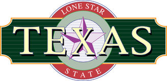 Texas Icon. With Lone Star Royalty Free Stock Images