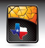 Texas icon on cracked gold backdrop Stock Photography