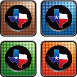 Texas icon on multicolored checkered web buttons Royalty Free Stock Image