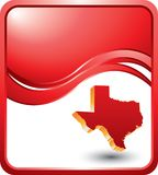 Texas icon on red wave backgrounds Stock Images
