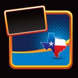 Texas icon on stylized banner Royalty Free Stock Photo
