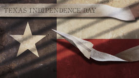 Texas Independence Day. Flag and Airplane Stock Photography
