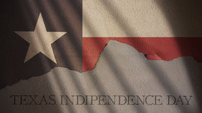 Texas Independence Day flagga Royaltyfri Fotografi