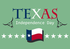 Texas Independence Day. Vector illustration Texas flag on Independence Day. Vector illustration. Festive card. Festive vector illustration. Background texas flag Royalty Free Stock Photography