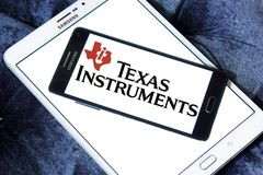 Texas Instruments-Firmenlogo Stockfotos