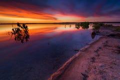 Texas Lake Sunrise Stock Afbeelding