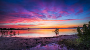 Texas Lake Sunrise Royalty-vrije Stock Fotografie