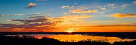 Texas Lake Sunrise Panorama Royalty Free Stock Image
