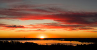Texas Lake Sunrise Panorama Royalty Free Stock Photos