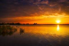 Texas Lake Sunrise Stock Photography