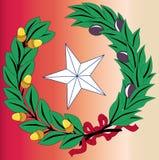 Texas Laurel Leaf en Ster Royalty-vrije Stock Afbeeldingen