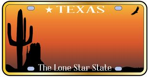 Texas License Plate illustration libre de droits