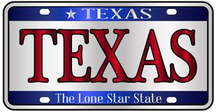 Texas License Plate illustration de vecteur