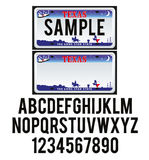 Texas License Plate illustrazione di stock