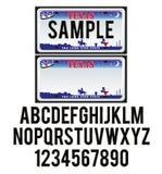 Texas License Plate stock illustrationer