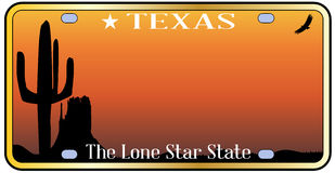 Texas License Plate Imágenes de archivo libres de regalías
