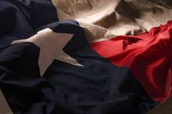Texas Lone Star. Close up of the Texas state flag filling the entire frame with the red white and blue fields and single star Stock Photography