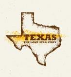 Texas The Lone Star de V.S. verklaart Creatief Vectorconcept op Natuurlijke Document Achtergrond Royalty-vrije Stock Afbeelding