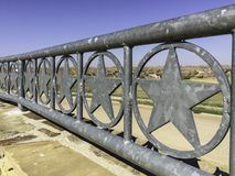 Texas lone star railing. Texas lone star metal railing shot at an angle Stock Images