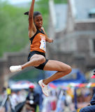 Texas long jumper Chantel Malone Royalty Free Stock Photography