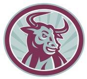 Texas Longhorn Bull Retro Stock Image