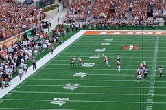 Texas Longhorns college football game. In Austin, TX Royalty Free Stock Image