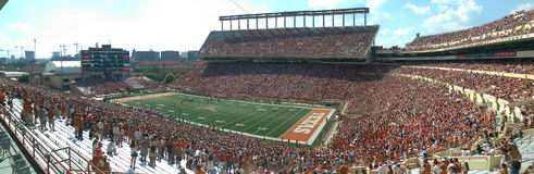 Texas Longhorns football game. Football game between University of Texas and Oklahoma state university in Austin Texas Stock Image