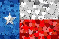 Texas made of hearts background. Illustration Stock Images