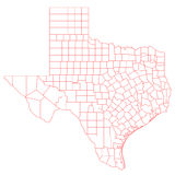 Texas Map Fotografia de Stock