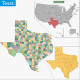 Texas Map Stockbilder