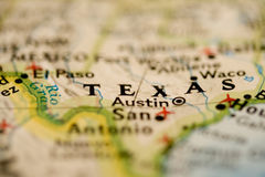 Texas Map stock images
