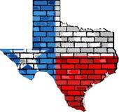 Texas map on a brick wall. Illustration Royalty Free Stock Photo