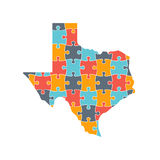 Texas Map Rebuild Puzzle Solution InfoGraphic Stock Photo