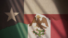 Texas and Mexican Empire Flag. Stock Images