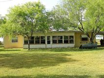 Texas Mid Century Modern Ranchhouse du sud images libres de droits