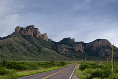 Texas Mountain Highway Stock Images