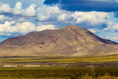 Texas Mountains ad ovest immagine stock