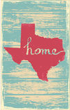 Texas nostalgic rustic vintage state vector sign Royalty Free Stock Photos