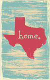 Texas nostalgic rustic vintage state vector sign. Rustic vintage style U.S. state poster in layered easy-editable vector format Royalty Free Stock Photos