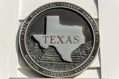 Texas Official Historical Medallion imágenes de archivo libres de regalías