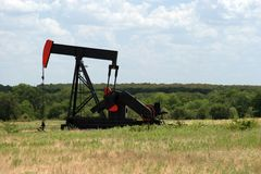 Texas oil drilling. Drilling for oil in Texas USA Stock Images