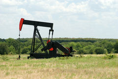 Texas oil drilling. Drilling for oil in Texas USA Royalty Free Stock Photo